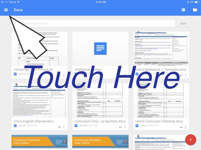 how to use google docs on ipad