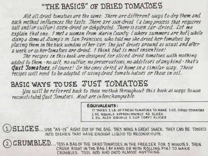 The Basics of Dried Tomatoes