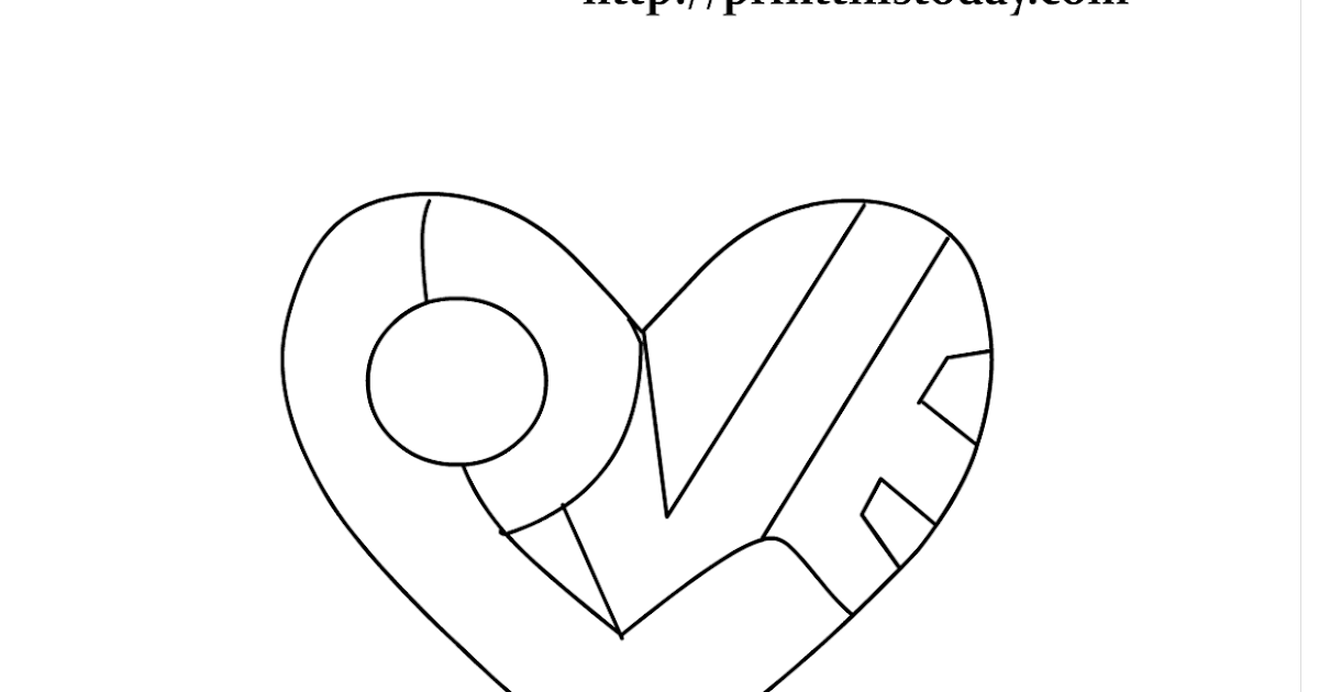 The Word Love Colouring Pages Sketch Coloring Page