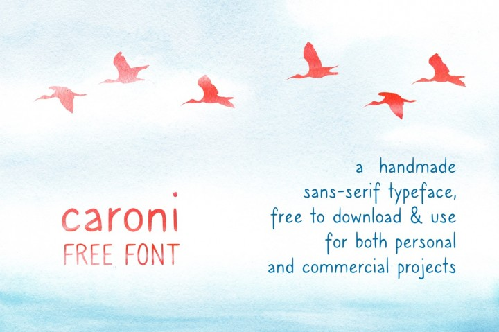 Download Caroni - A Handmade Typeface Font Family From Franzi draws