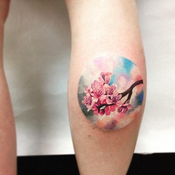 este_crculo_estilo_aquarela_flor_da_tatuagem