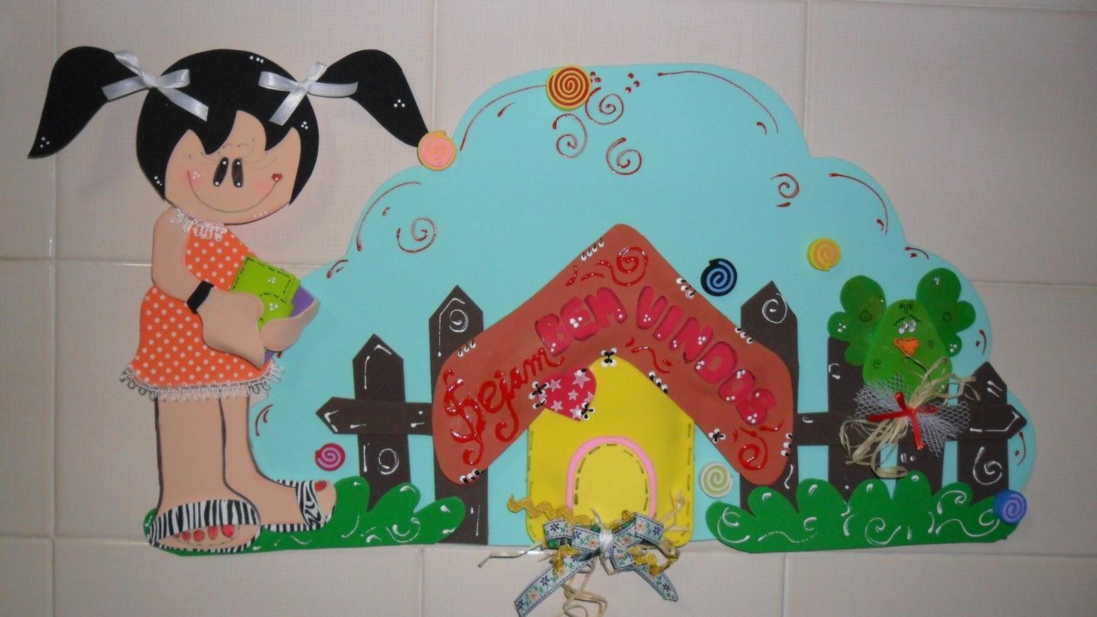 Enfeite De Sala ~ Mundo Encantado do Artesanato Enfeite de porta de sala de aula