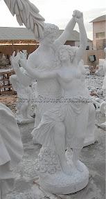 Female, Figure, Interior, Male, Marble, Statues