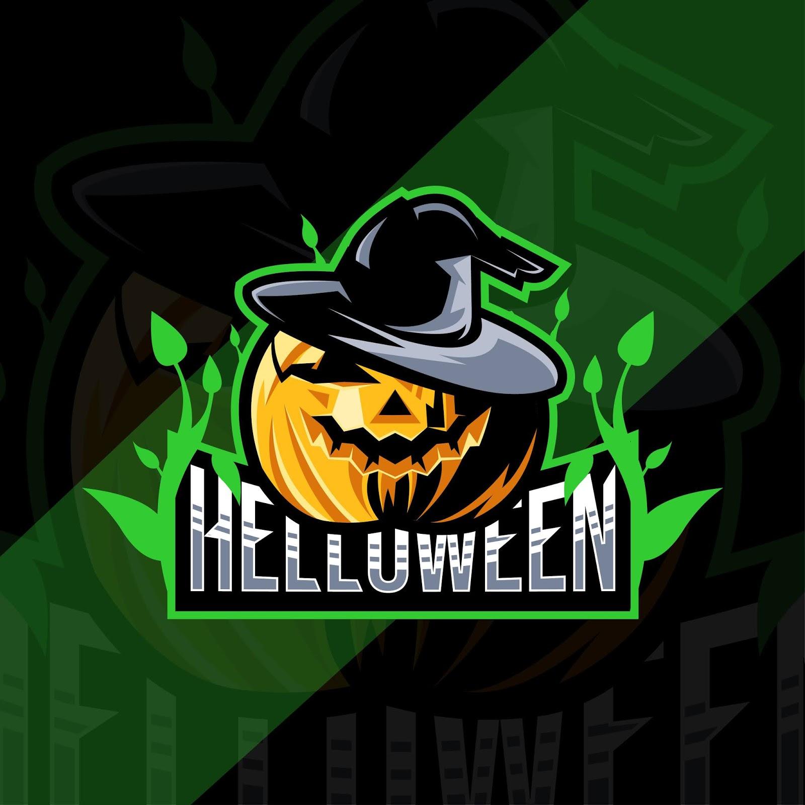 Helloween Pumpkin Mascot Esport Design Free Download Vector CDR, AI, EPS and PNG Formats