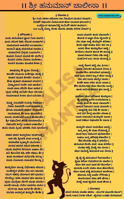 Hanuman Chalisa In Kannada Lyrics Image