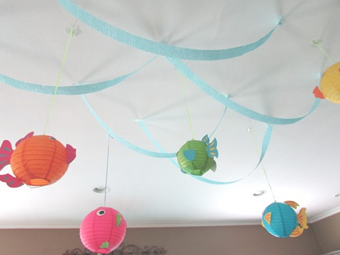 diy mermaid under the sea fish party decorations