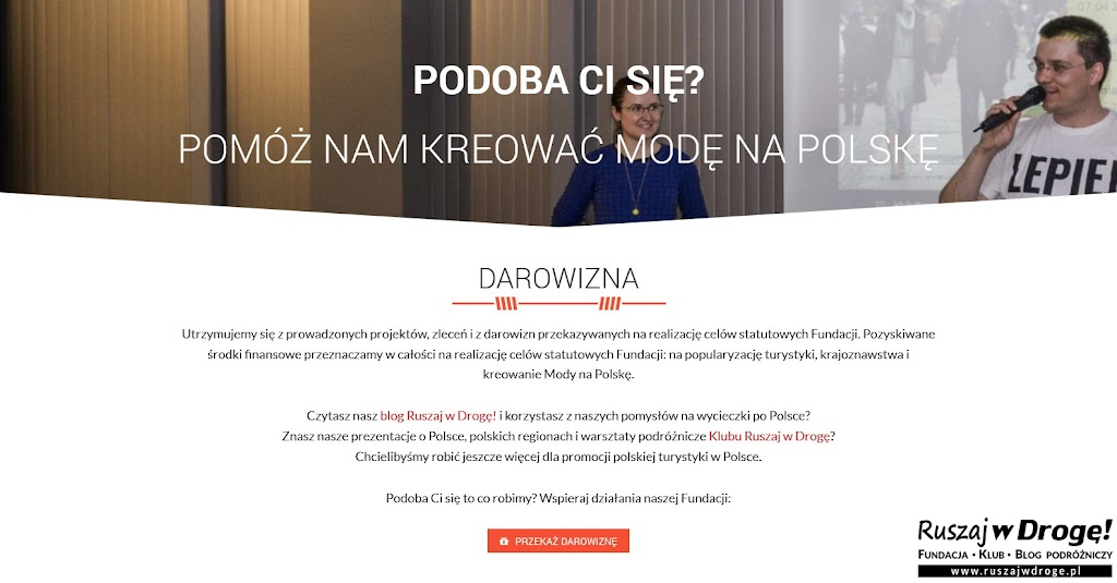 Fundacja Ruszaj w Drogę - przekaż darowiznę, kreuj Modę na Polskę