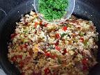 Salata de cuscus cu peste afumat si marar preparare