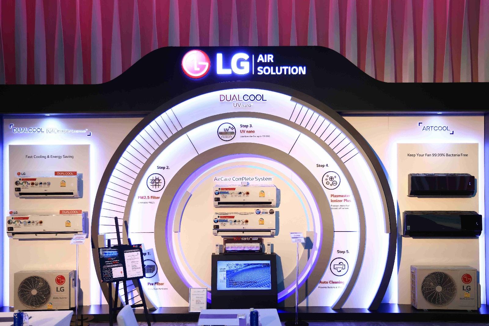 LG ส่งทัพเครื่องปรับอากาศภายในบ้าน ชูนวัตกรรม UVnano กำจัดเชื้อแบคทีเรียและไวรัสที่ใบพัดในตัวเครื่อง 99.99% เพื่อมอบอากาศบริสุทธิ์และเย็นอย่างเหนือระดับ