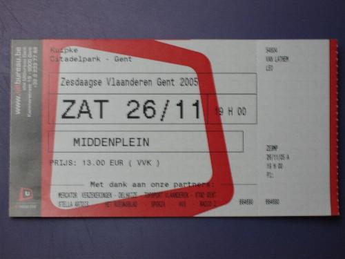 Tickets liggen klaar. Op naar Gent!