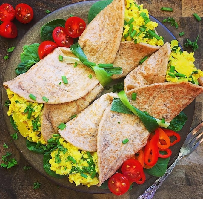 Scrambled Tofu Wraps Recipe | Breakfast Care