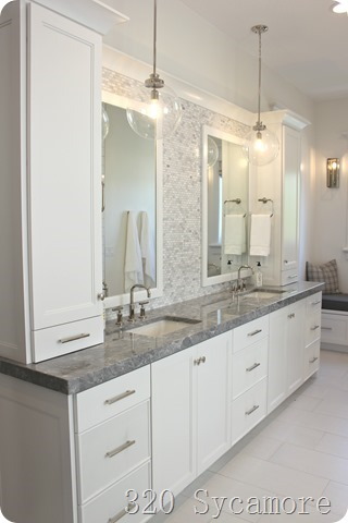master bathroom gray quartz