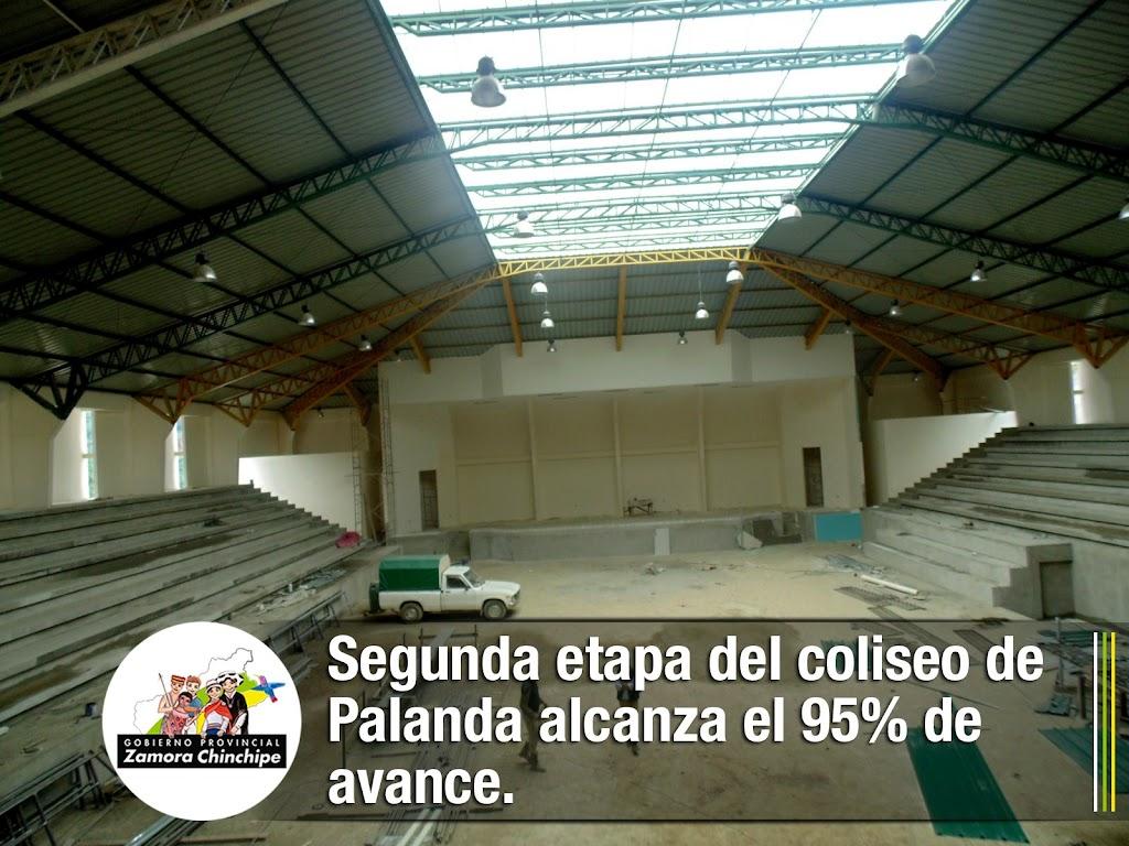 SEGUNDA ETAPA DEL COLISEO DE PALANDA ALCANZA EL 95% DE AVANCE.