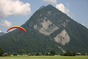 Parasailing from the top of Harder Kulm