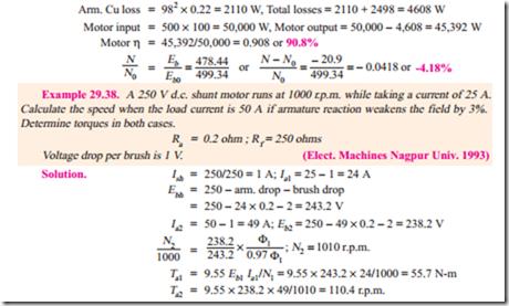 D c  Motor:Comparison of Shunt and Series Motors | electric