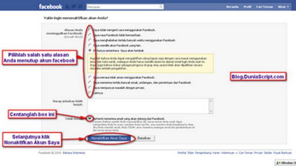 Cara Menghapus Akun Facebook, Cara Menonaktifkan Akun Facebook