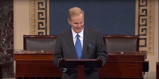During a speech on the Senate floor on 30 January 2018, Democratic Sen. Bill Nelson of Florida said he was 'absolutely shocked' by FEMA's decision to cut off food and water to Puerto Rico. Photo: Sen. Bill Nelson