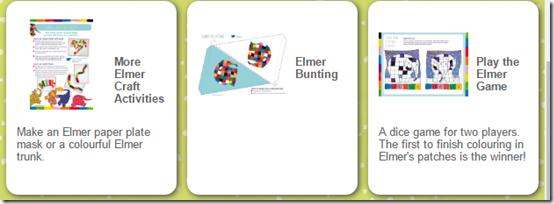 avtividades cuento de Elmer