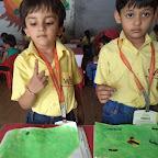Finger painting Inscets WKSN (Junior KG) 01/10/2015