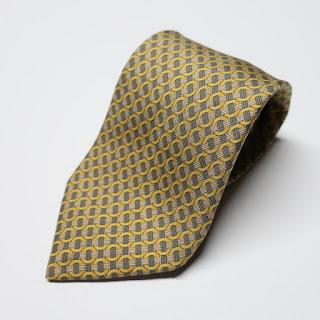 Hermès Yellow/Green Necktie