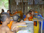 Monks studying at the local temple