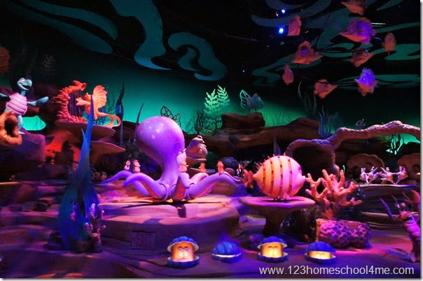 Undersea Voyage with the Little Mermaid ride at Magic Kingdom