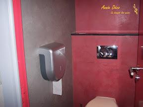 Toilettes - Enduit argile