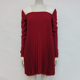 Valentino Collection Pleated Dress