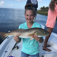 Abbie with a slot redfish 10-06-2018