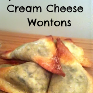 Easy Spinach and Cream Cheese Wonton
