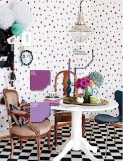 Inspire my house pretty  Polka dot wallpaper
