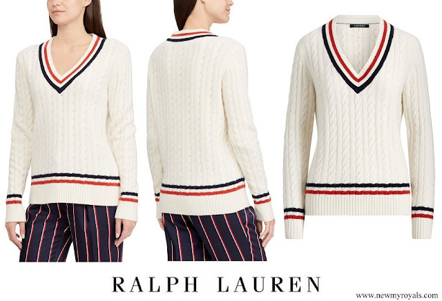 Kate Middleton wore Ralph Lauren Cable Knit Cricket Sweater