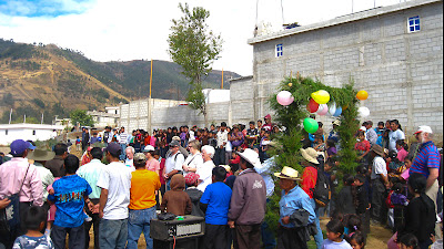 Opening ceremony, Sienna Project 2011 Guatemala trip to help build school in Palanquix, Solala, Guatemala. Photos by TOM HART