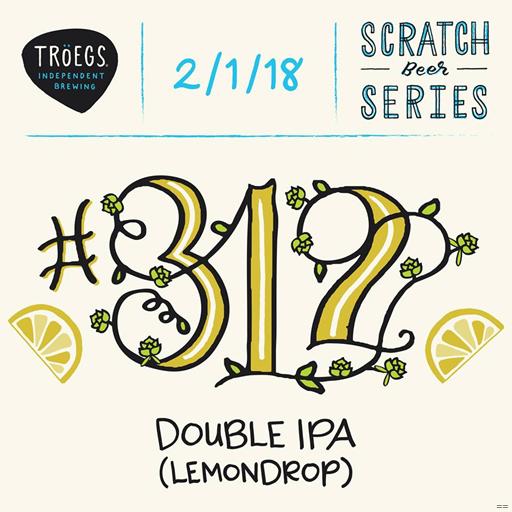 Troegs Releases Scratch 312 Lemondrop DIPA