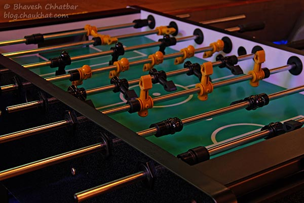 Table football AKA foosball at Toss Sports Lounge Koregaon Park