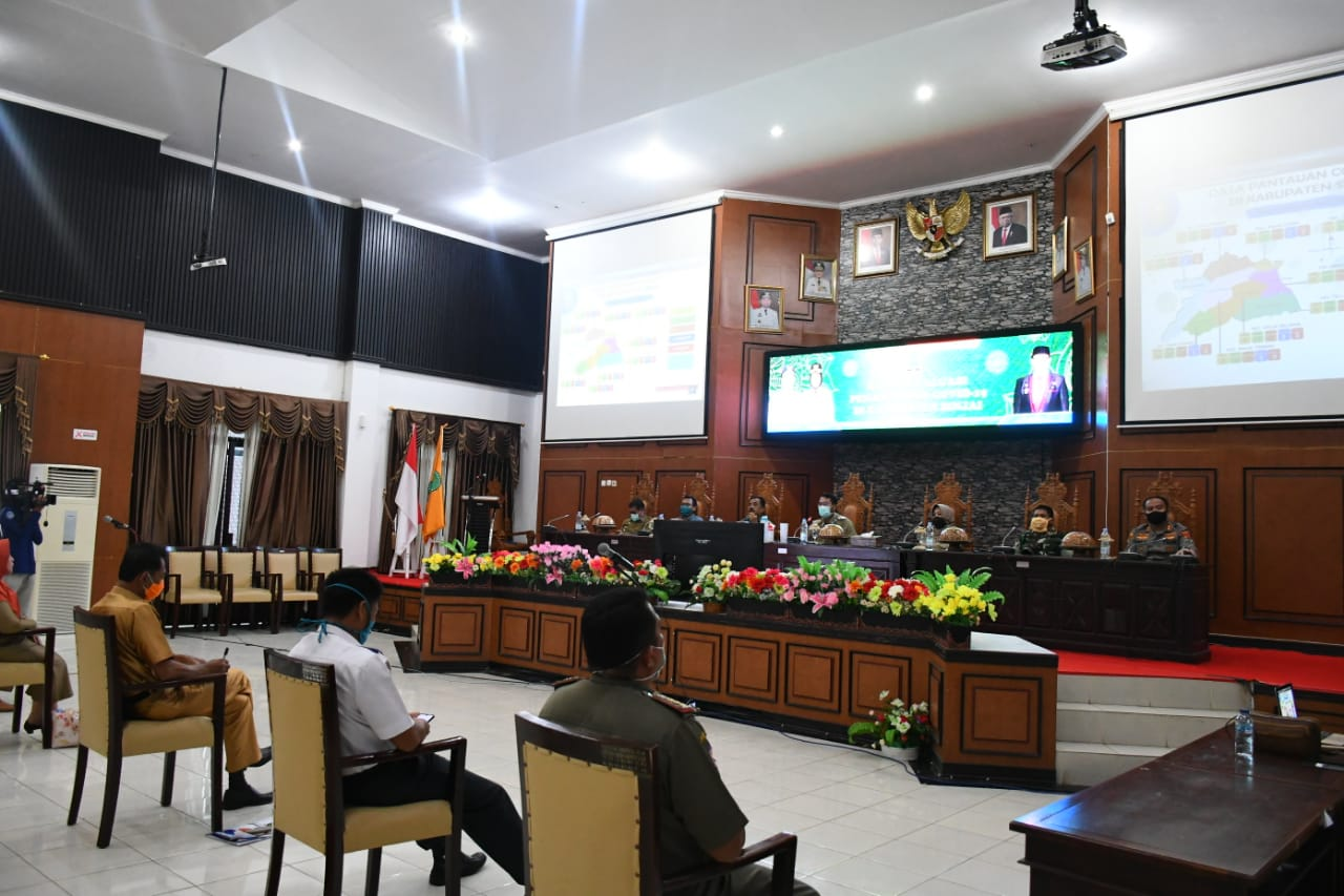 Rapat Evaluasi Tim Gugus, Ketua DPRD Sinjai: Lakukan Segala Upaya Pencerahan Covid-19 di Sinjai