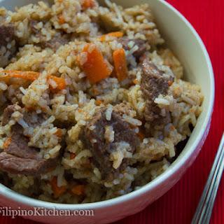 Beef Plov (Rice Pilaf)