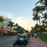 Ocean Drive by dusk in Miami, Florida, United States