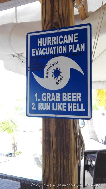 Piano di evacuazione in caso di uragano secondo The Loose Mongoose