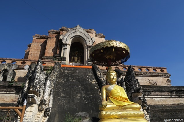 Wat Chedi Luang in the Old City