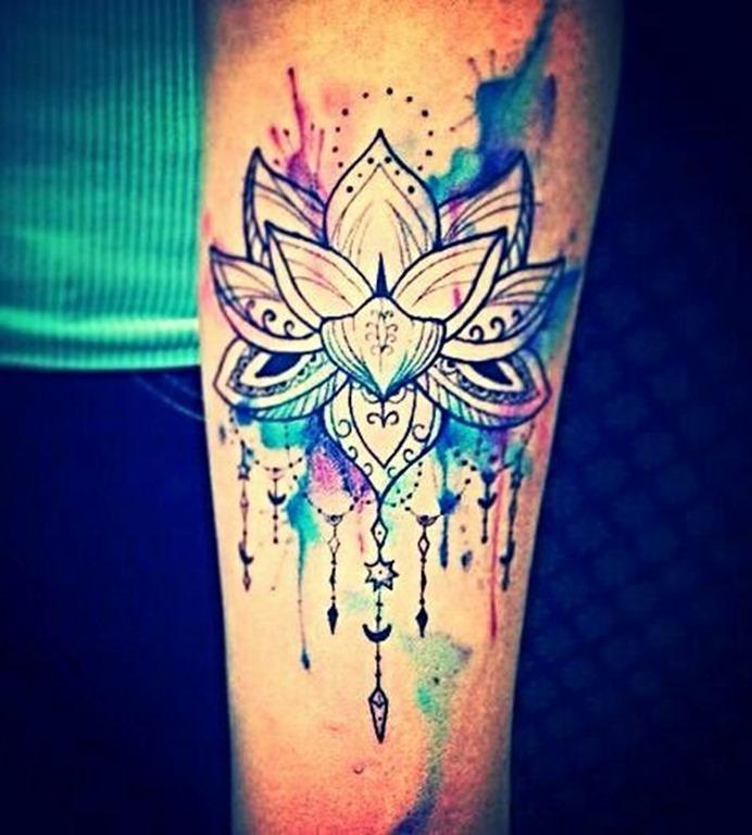 aquarela_flor_de_ltus_da_tatuagem