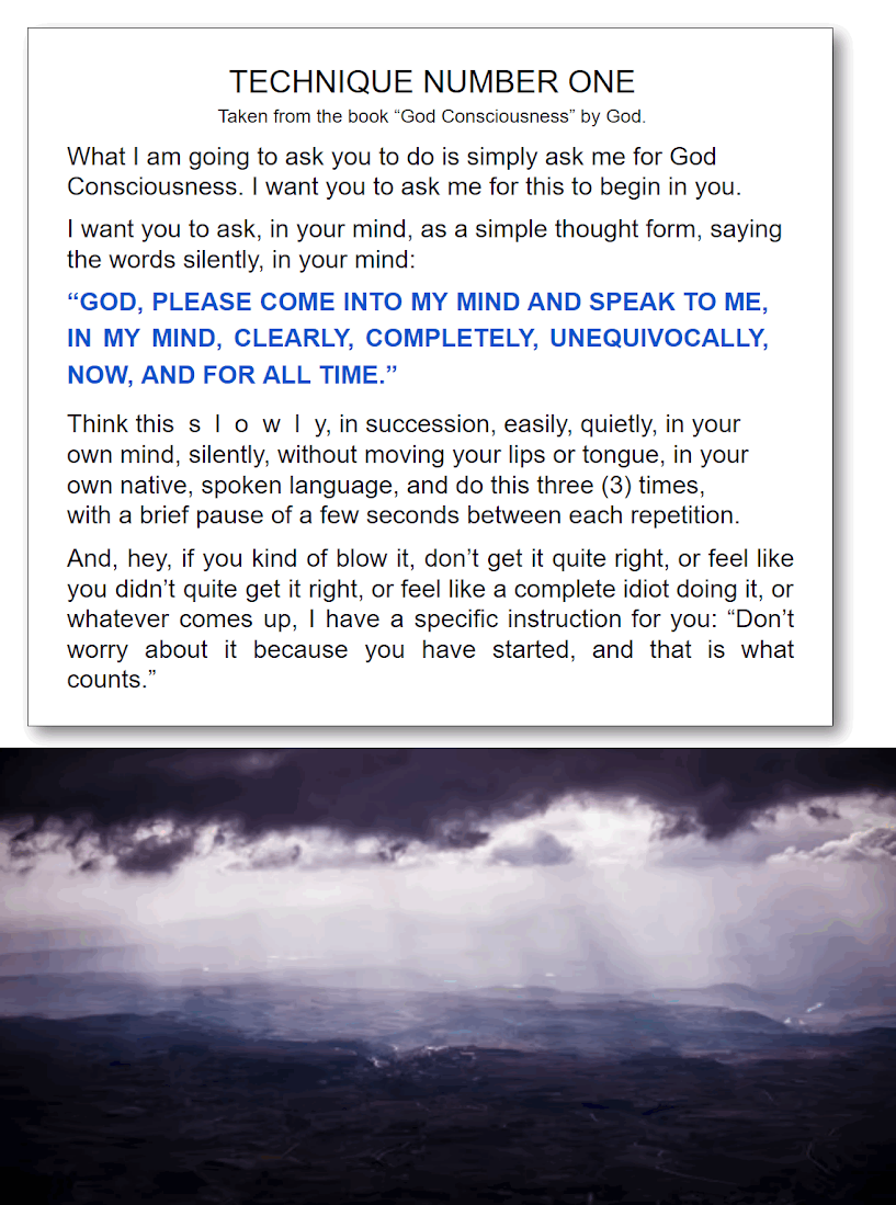 God Consciousness how to have telepathic contact with God