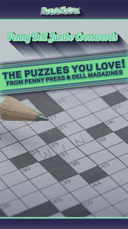 Penny Dell Jumbo Crosswords- screenshot