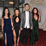 OIC - ENTSIMAGES.COM - Shelby Billingham, Abi Clarke, Junaid Ahmed and Jessica Hayes at the  Britz go Bollywood - Ark Royal Banquet Hall  in London 29th February 2016 Photo Mobis Photos/OIC 0203 174 1069
