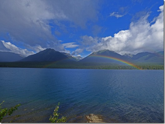 Rainbow on Eddontenajon lake, Cassiar Highway