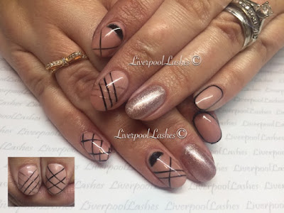 liverpoollashes liverpool lashes beauty blogger nail art nude black champagne gorgeous nails tutorials