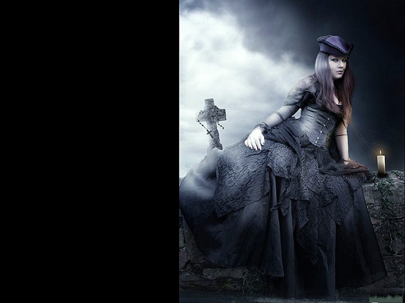 Gothic Beauty And Cross, Gothic Girls