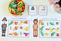 Thanksgiving Themed Rhyme and Beginning Letter Sound BINGO Game