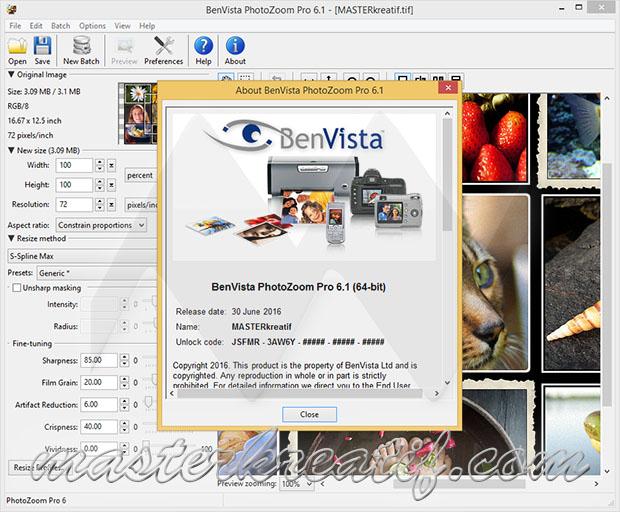Benvista PhotoZoom Pro 6.1