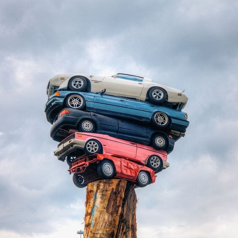 'Trans Am Totem' And 'Spindle': The Art of Stacking Cars